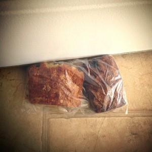 Bread as doorstop