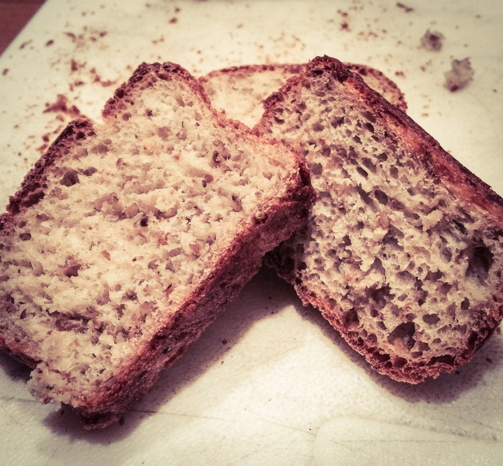 Rye bread from the VIM Golden Potty Ale brewing.